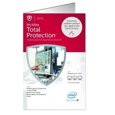 McAfee Total Protection 2015 - 3 Devices - PC Key Card