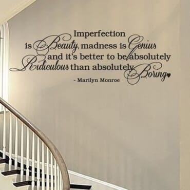 Imperfection Is Beauty - Monroe Quote DN109