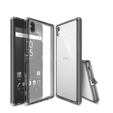 Ringke Case & Screen Protector for Xperia Z5 Premium - Smoke Black