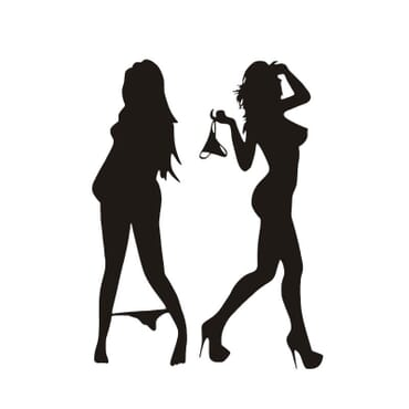 Sexy ladies car decal - White CR08-W