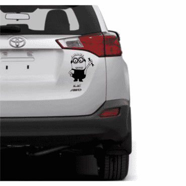 Minions car sticker decal - Black CR04