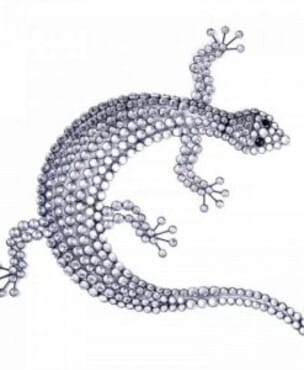 Silver Gecko Wall Art