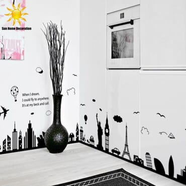 Around The World Wall Decal WD003