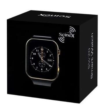 Scinex Unisex SW20 16GB Bluetooth Smart Watch GSM Phone - Gold & Black