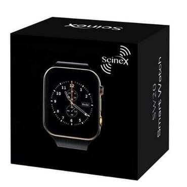 Scinex SW20 Bluetooth Smart Watch GSM Phone - Silver/Black