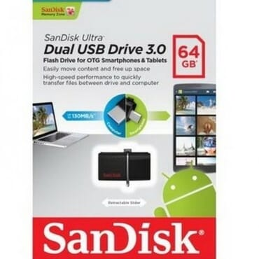 SanDisk Ultra 64GB USB 3.0 OTG Flash Drive With Micro USB Connector
