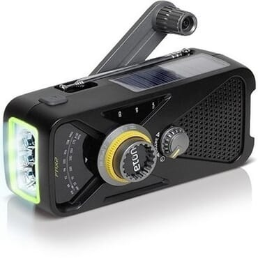 eton FRX2 AM/FM Radio with Emergency USB Smartphone Charger and LED Flashlight + Solar Charging