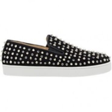 Christian Louboutin black 'Roller' stud slip on for men