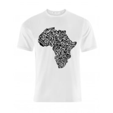 City men's top shirt with a high quality United Africa map print