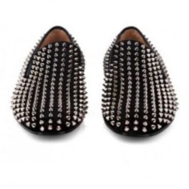 BLACK DANDELION STUDDED SUEDE,Mens Shoes