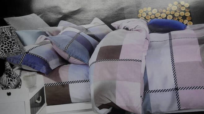 Cotton Bed sheet with Duvet and 2 Pillow Cases