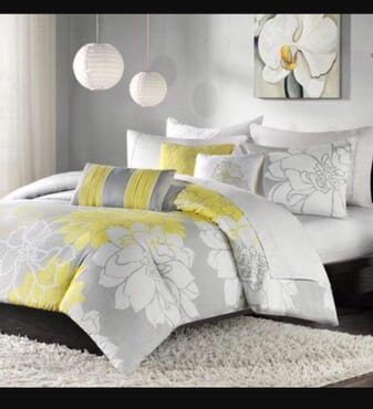 Flower Bed sheet with Duvet and 4 Pillow Cases