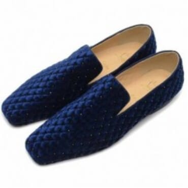 DANDY FLAT SUEDE CAPITONNE DERBIES- BLUE,Mens Shoe
