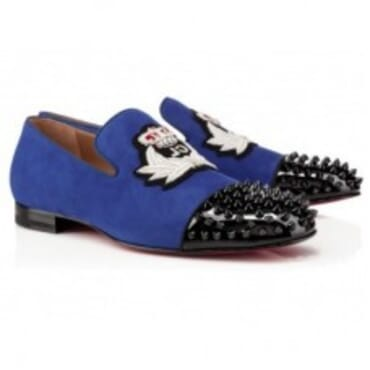 HARVANANA BACK SPIKES SUEDE - BLUE,Mens Shoe