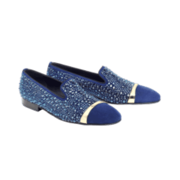 LOUIS LEEMAN BLUE CRYSTALS WITH METAL DETAIL,MENS SHOES