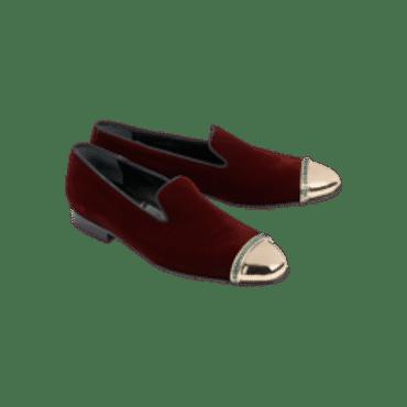LOUIS LEEMAN VELVET WITH METAL CAPTOE W CRYSTALS,Mens Shoes