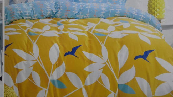 Flowery Reversible Bed sheet with Duvet and 4 Pillow Cases
