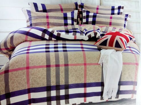 Burberry Bed sheet with 4 Pillow Cases