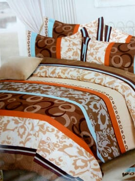 Circle Print Bed sheet with 4 Pillow Cases
