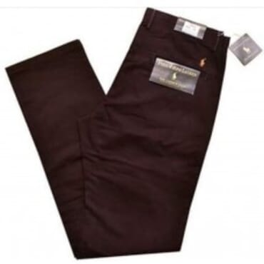 Classic-Fit ,Cotton Chino,-Brown