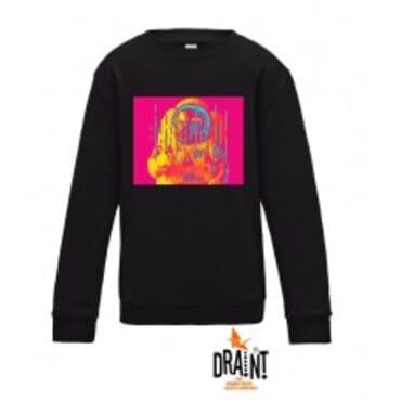 Black Red Space,Sweatshirt,