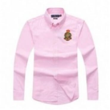 PRL Crest Shirt - Pink,Logo Longsleeve,