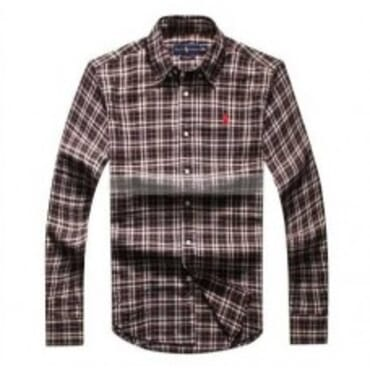 Ralph Lauren Checkered- Deep Brown and White,Longsleeve Shirt