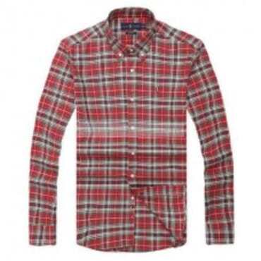 Ralph Lauren Checkered-Brown, Red & White,Longsleeve Shirt,