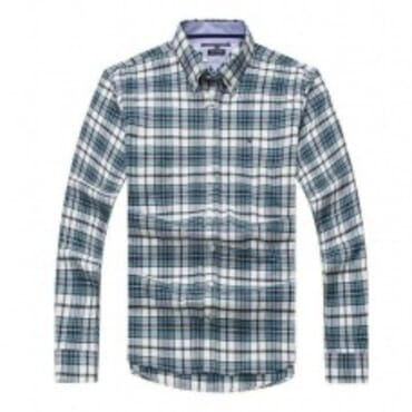 tommy Hilfiger Mens Cotton Shirts- Blue/Grey