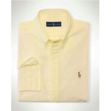 Yellow Polo By Raulph Lauren Shirt with Small Pony