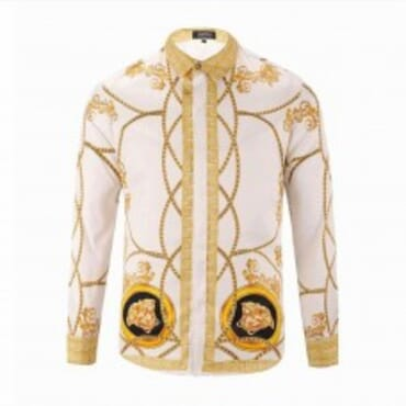 Mens Royalty Inspired Silk-White,Mens Shirt,