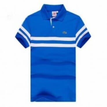 Stripe ,Polo- Blue