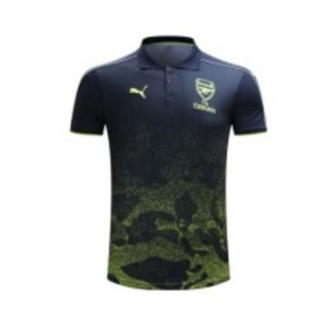 ARSENAL 2017/2018 POLO,| ULTRA GREEN & BLACK