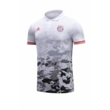 BAYERN MUNICH 2017/2018 POLO,| WHITE & RED