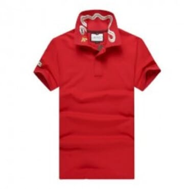 Cotton ,polo, with tiger embroidery-Red II