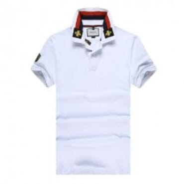 Cotton ,polo,with tiger embroidery-White III