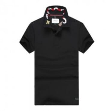 Cotton ,polo, with tiger embroidery-Black II