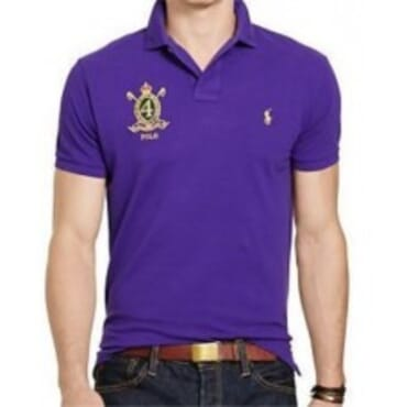 Purple Custom-Fit Mesh ,Polo Shirt,