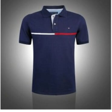 Tommy Bi-line Polo-Navy Blue