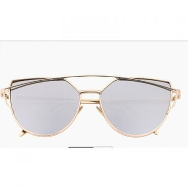 Metal Mirror Aviator Sunglasses- Silver & Gold