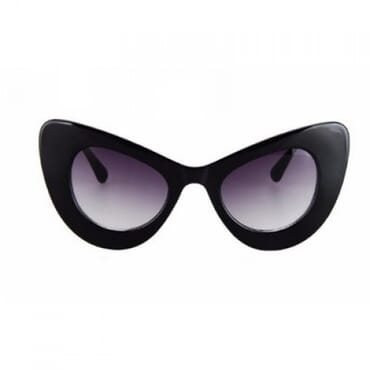 Oversize Cat Eye Sunglasses -Black