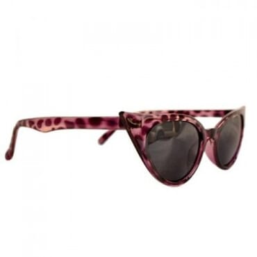 Posh Kollect ,Spiky Cat Eye Glasses, - Purple Print