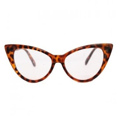 Posh Kollect Cat Eye Glasses - Brown Print