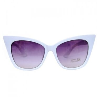 Posh Kollect Cat Eye,Sunglasses,- White