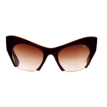Posh Kollect Half Frame ,Cat Eye Sunglasses, - Brown