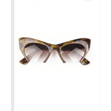 Posh Kollect Half Frame ,Cat Eye Sunglasses, - Print