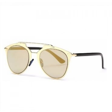 Posh Kollect Metallic ,Aviator Sunglasses, - Gold