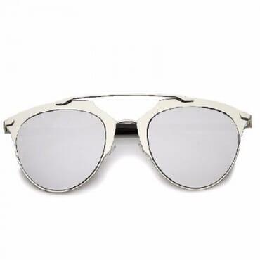 Posh Kollect Metallic ,Aviator Sunglasses, - Silver
