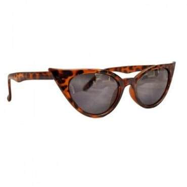 Posh Kollect Spiky ,Cat Eye Glasses, - Brown Print