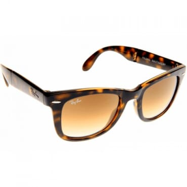 Ray Ban, Wayfarer, Folding Classic 4105 710/51 - Brown Tortoise